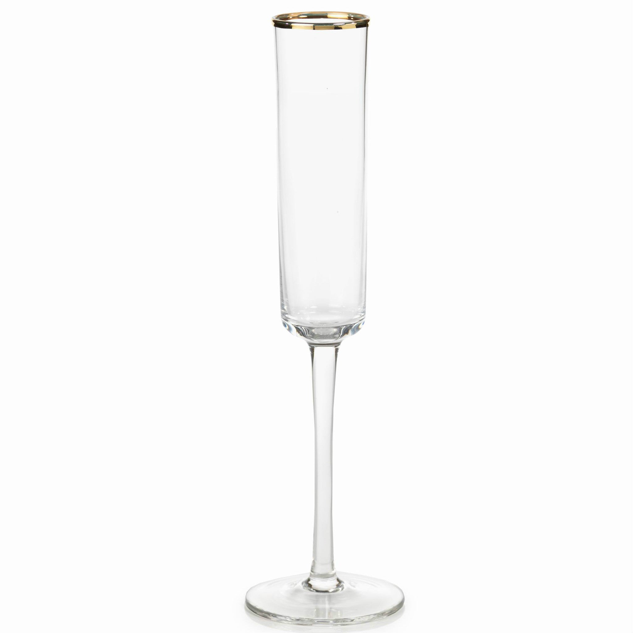 Tall Flutes with Gold Rim - Set of 6 - CARLYLE AVENUE
