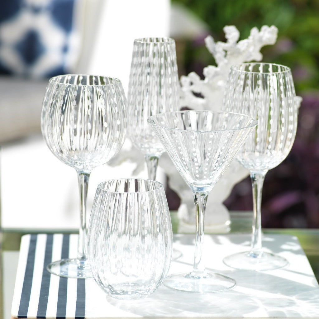 White Dot Glassware - Set of 6 -  - CARLYLE AVENUE - 7