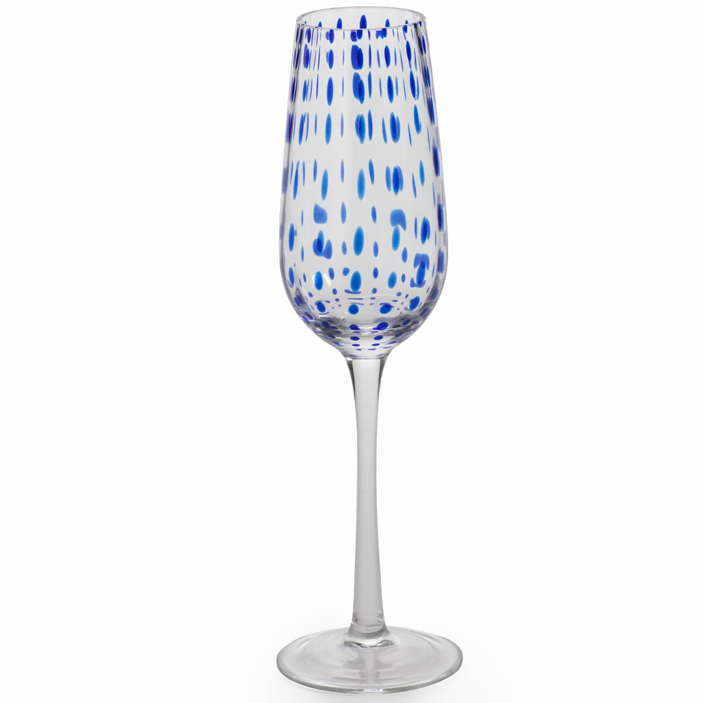 Blue Dot Glassware - Set of 6 - CARLYLE AVENUE