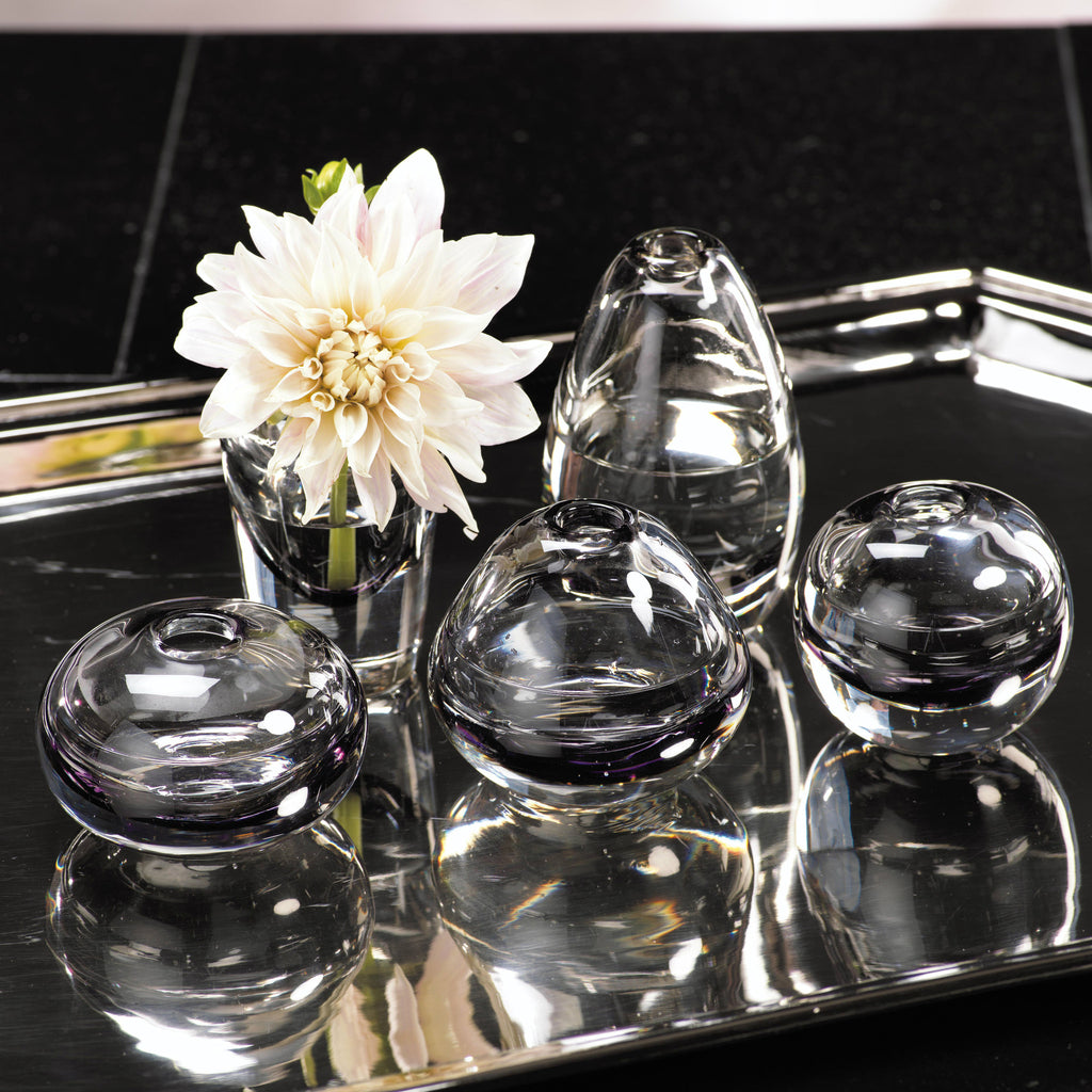 Arabella Assorted Glass Vases - Smoke - Set of 5 -  - CARLYLE AVENUE - 2