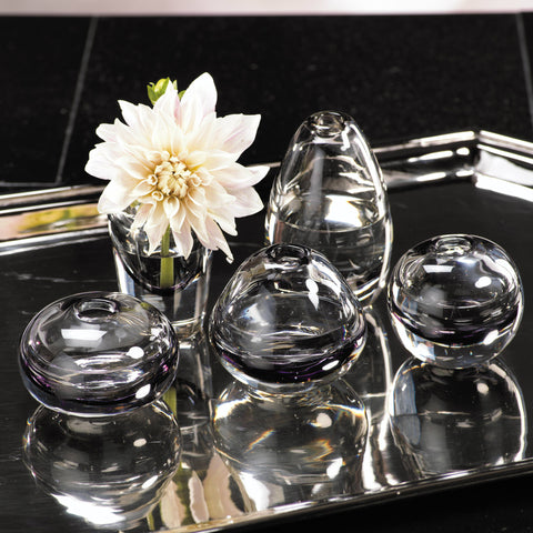 Arabella Assorted Glass Vases - Smoke - Set of 5