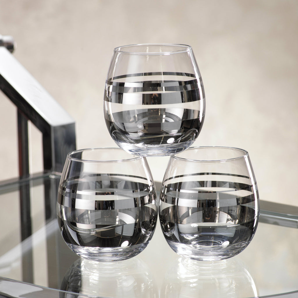 Enzo Platinum Stemless Wine Glass / Tumbler - Set of 6 -  - CARLYLE AVENUE - 2