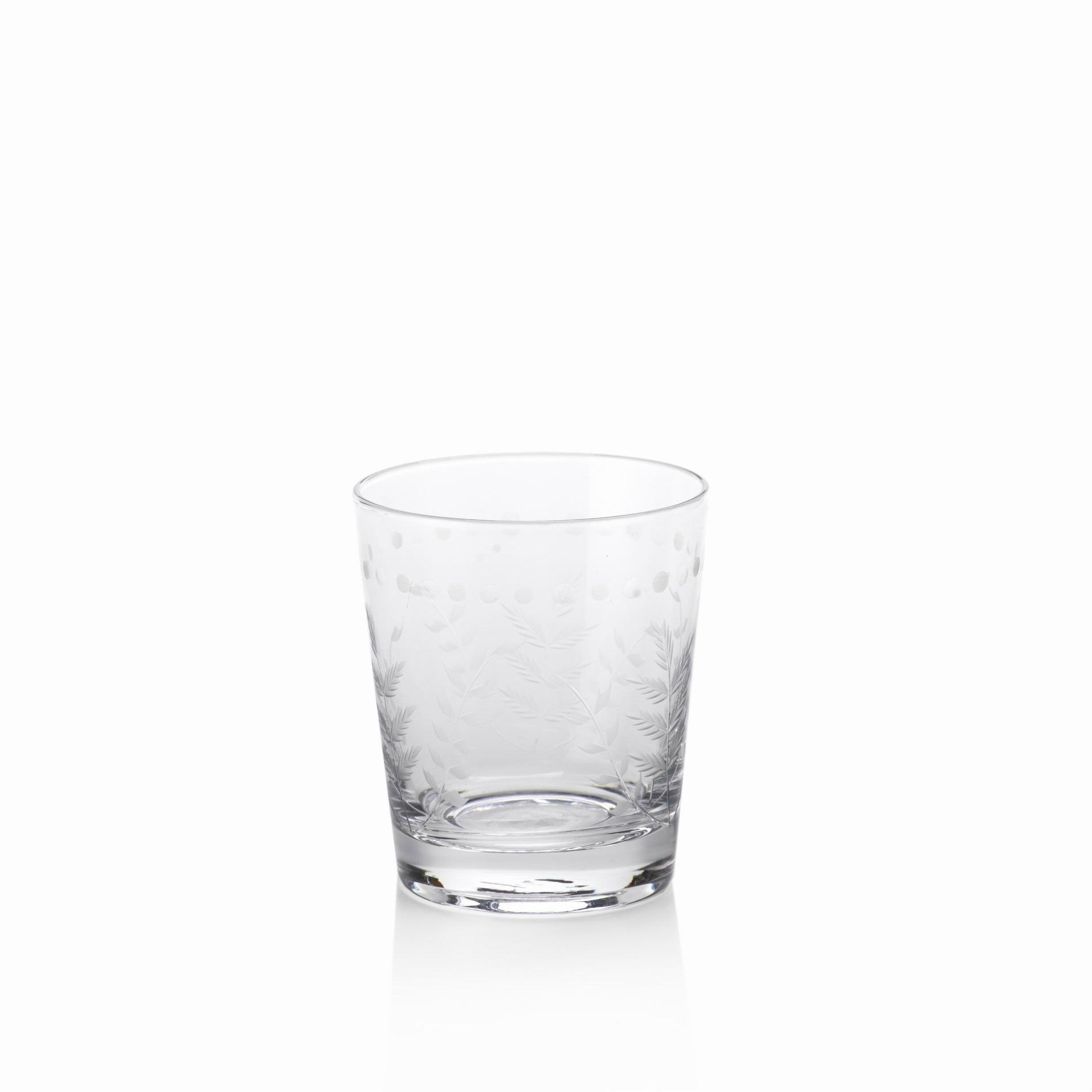 Spring Leaves Glassware - Set of 4 - DOF Glass - CARLYLE AVENUE - 5
