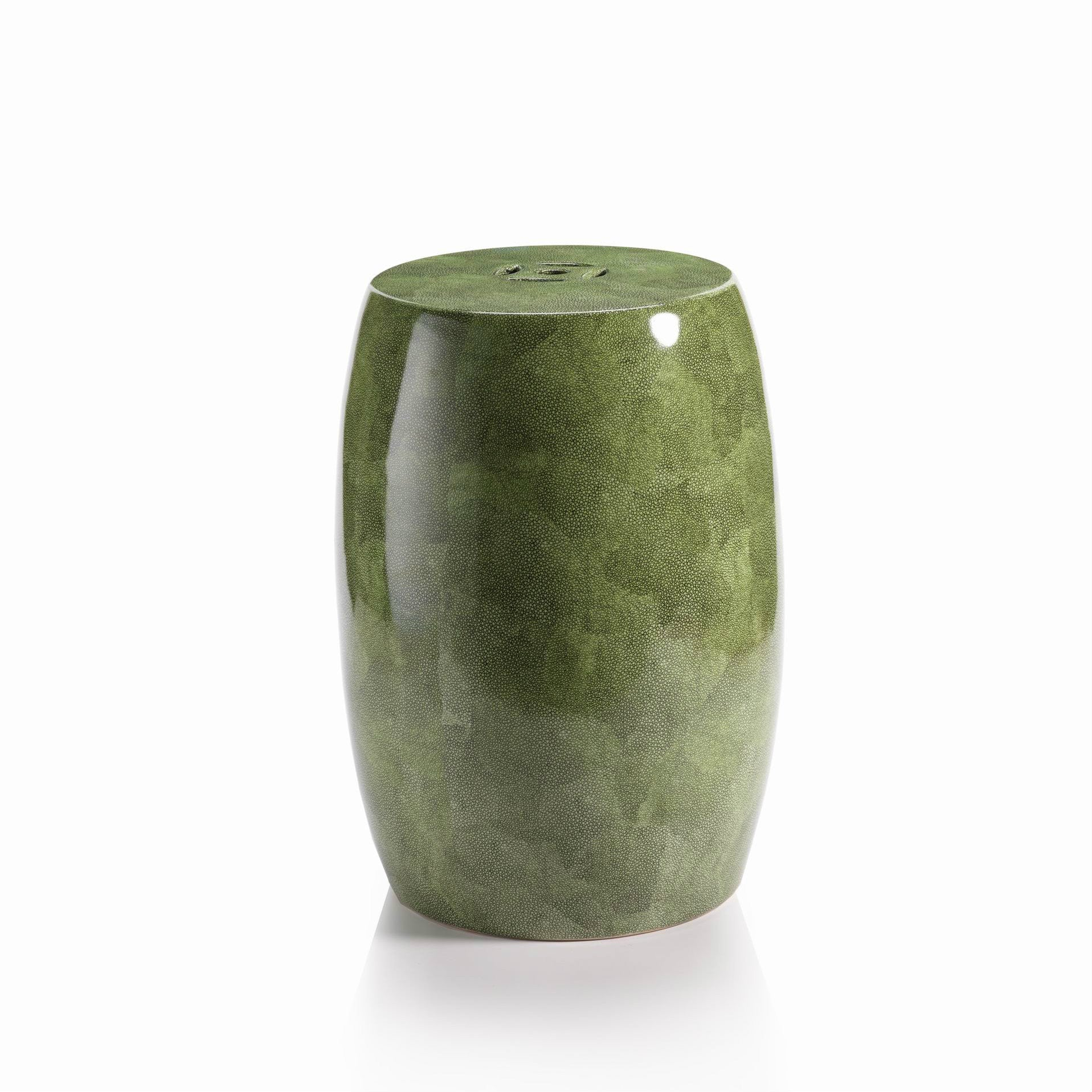 Ceramic Shagreen Stool - CARLYLE AVENUE
