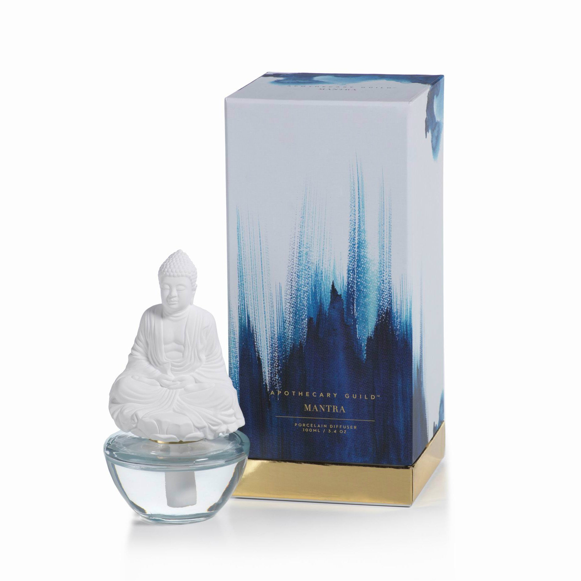 Apothecary Guild Mantra Buddha Porcelain Diffuser - Blue Lotus - CARLYLE AVENUE