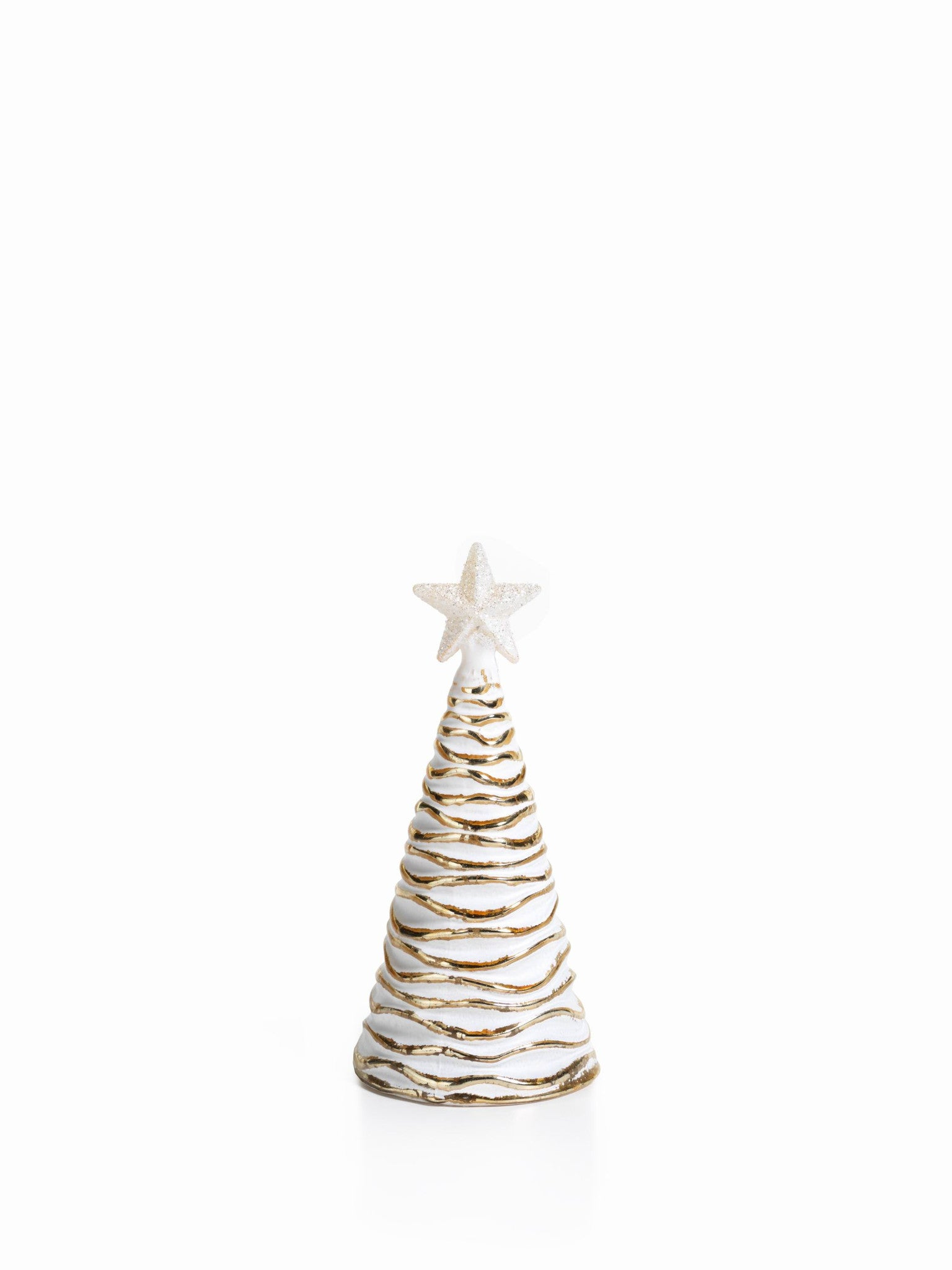 LED Glass Decorative Tree - Gold - Set of 6 - Small / Wavy - CARLYLE AVENUE - 3