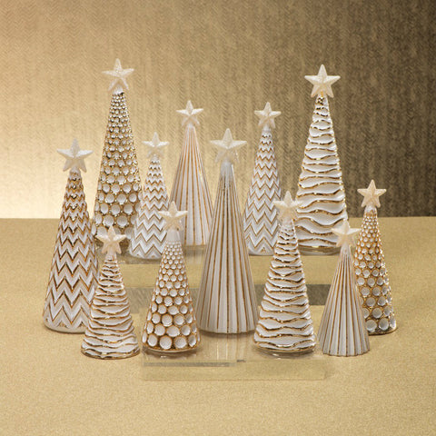 LED Glass Decorative Tree - Gold