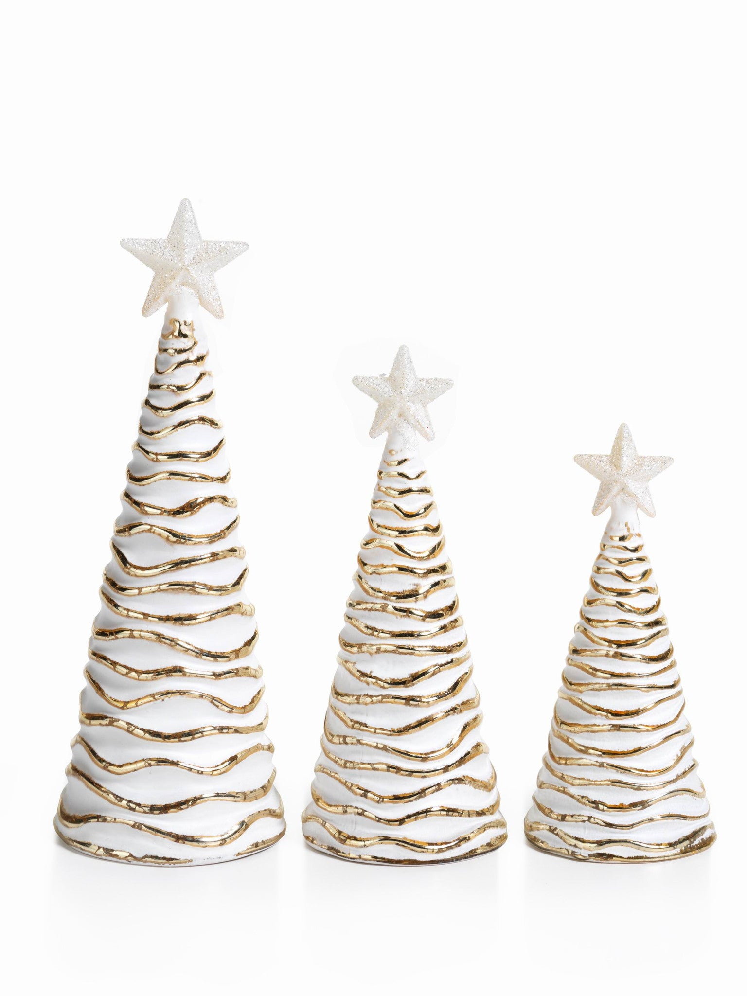 LED Glass Decorative Tree - Gold - Set of 6 -  - CARLYLE AVENUE - 2