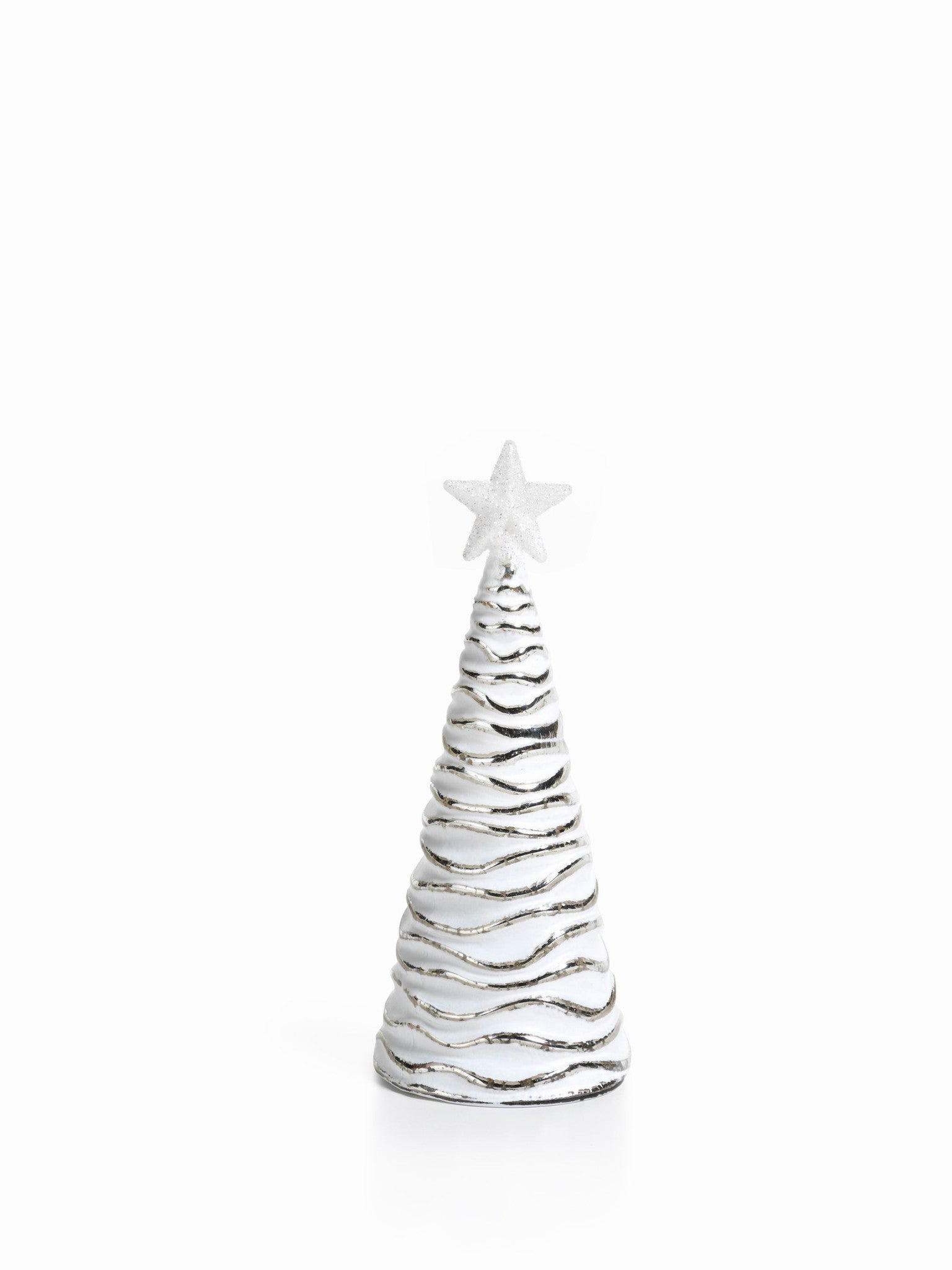 LED Glass Decorative Tree - Silver - Set of 6 - Medium / Wavy - CARLYLE AVENUE - 4