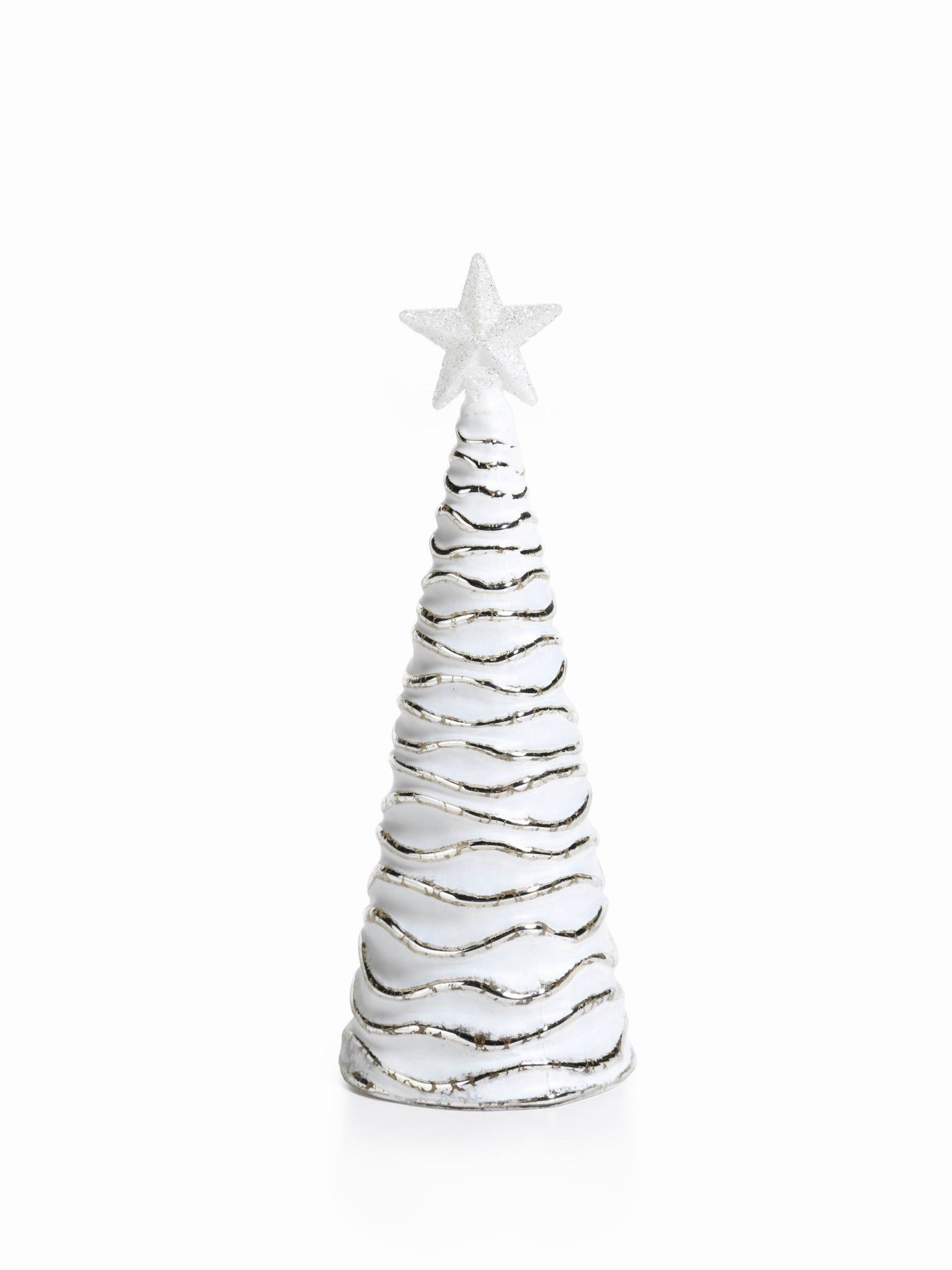 LED Glass Decorative Tree - Silver - Set of 6 - Large / Wavy - CARLYLE AVENUE - 5