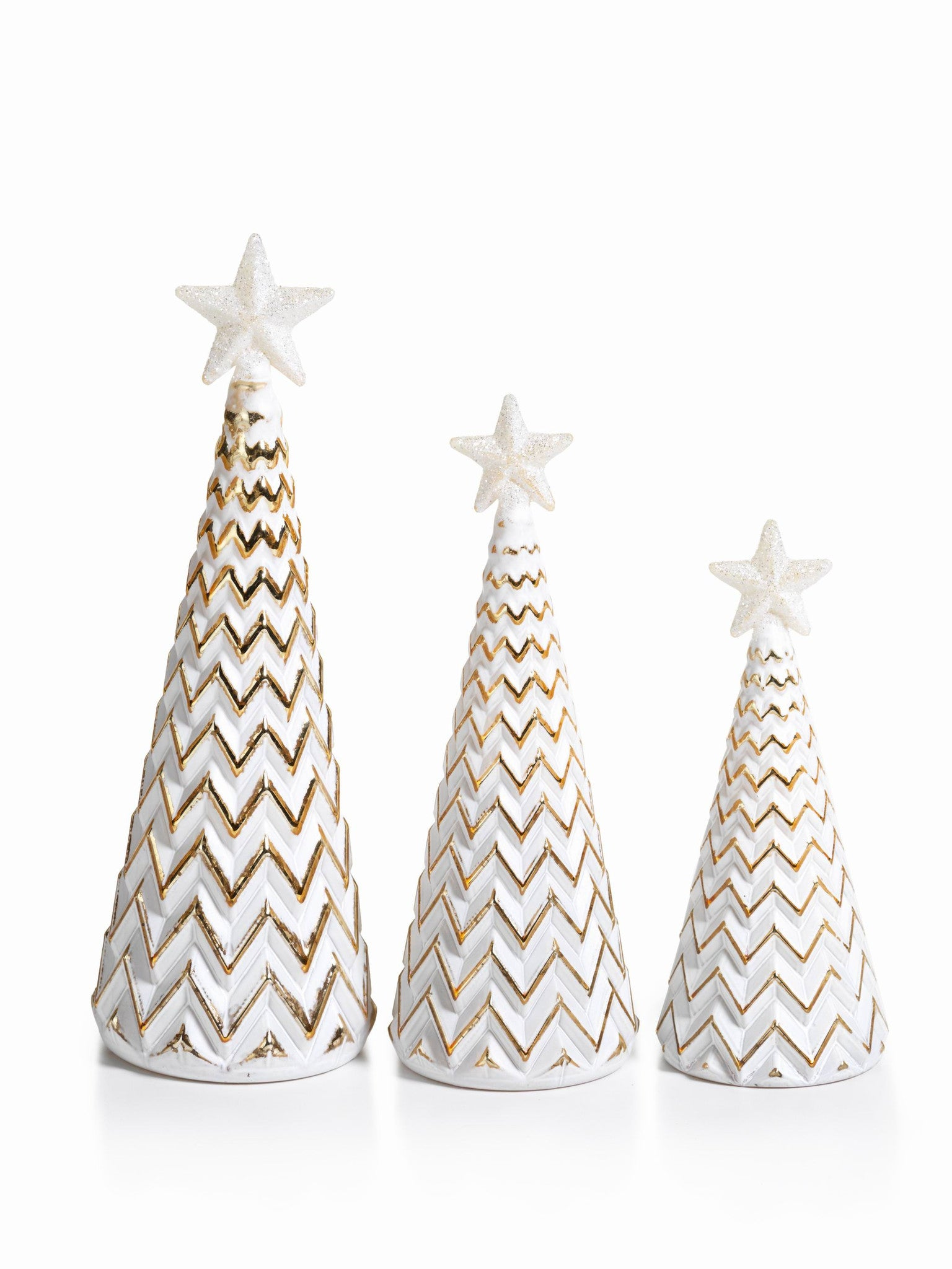 LED Glass Decorative Tree - Gold - Set of 6 -  - CARLYLE AVENUE - 6