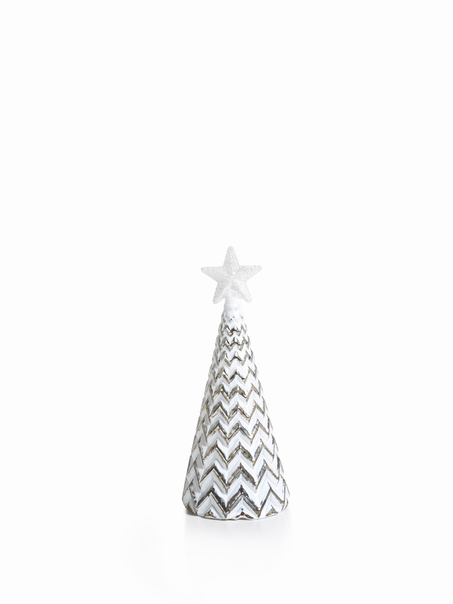LED Glass Decorative Tree - Silver - Set of 6 - Small / ZigZag - CARLYLE AVENUE - 7