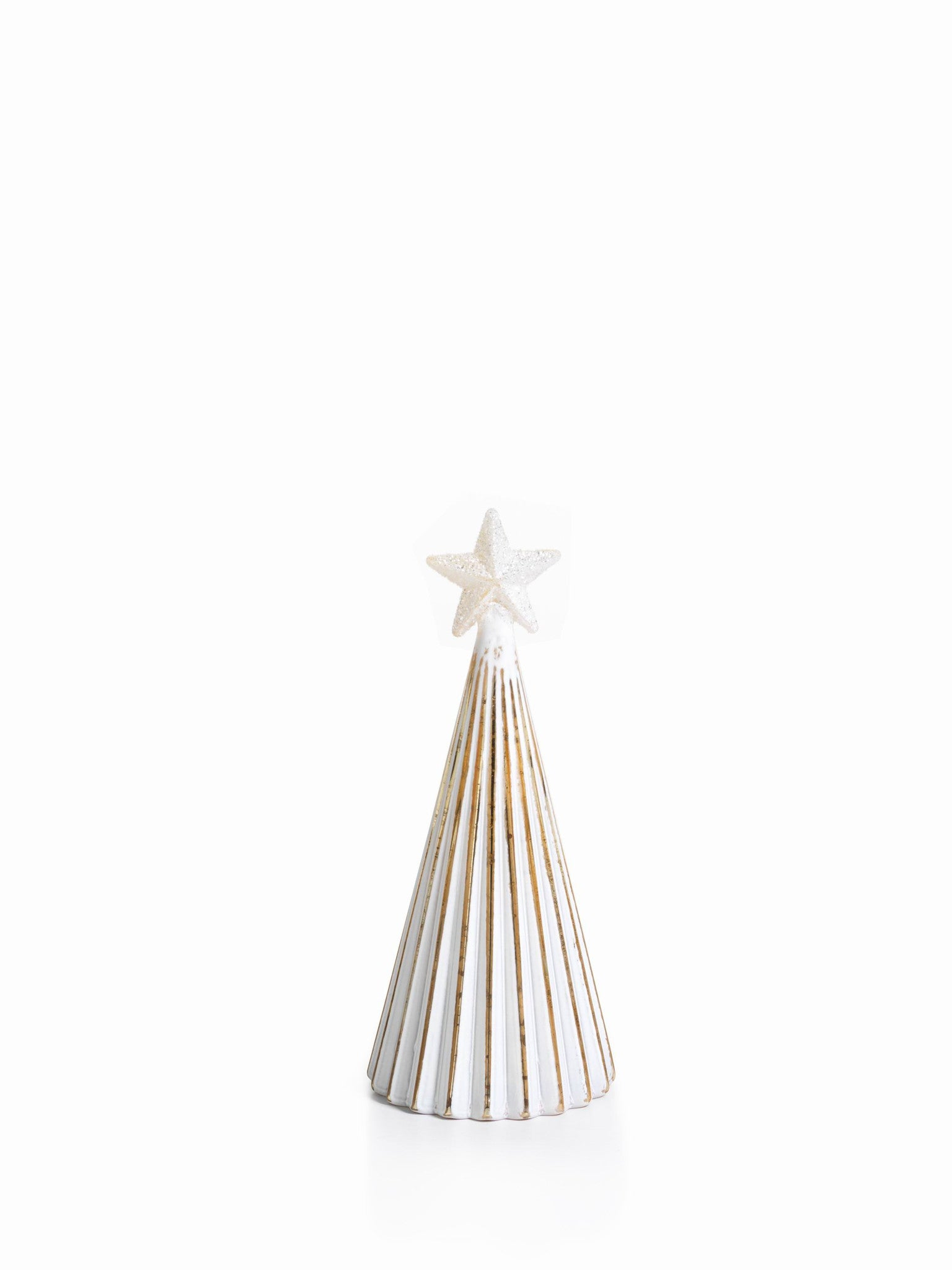 LED Glass Decorative Tree - Gold - Set of 6 - Small / Straight Line - CARLYLE AVENUE - 11