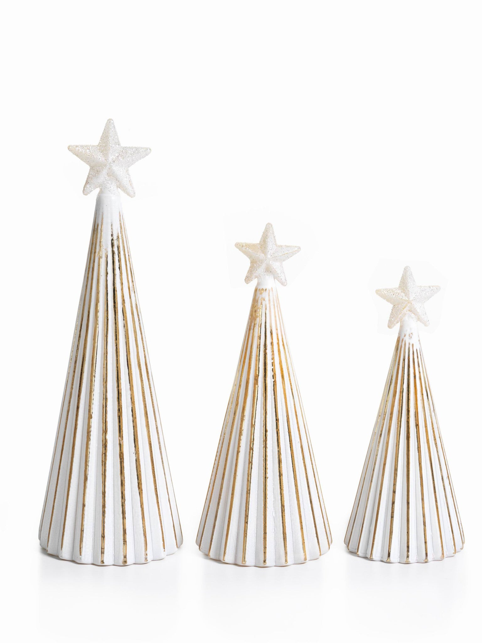 LED Glass Decorative Tree - Gold - Set of 6 -  - CARLYLE AVENUE - 10