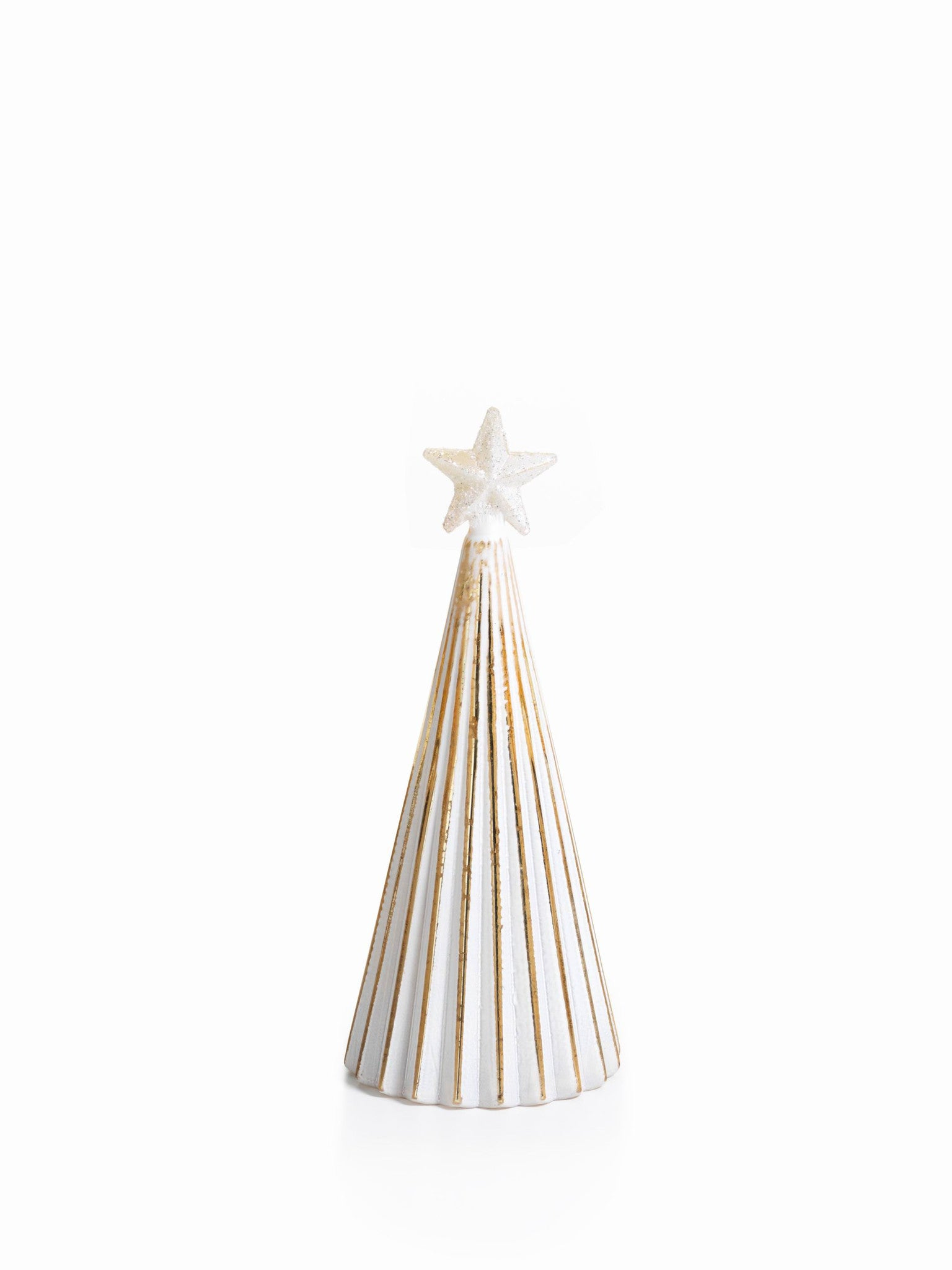 LED Glass Decorative Tree - Gold - Set of 6 - Medium / Straight Line - CARLYLE AVENUE - 12