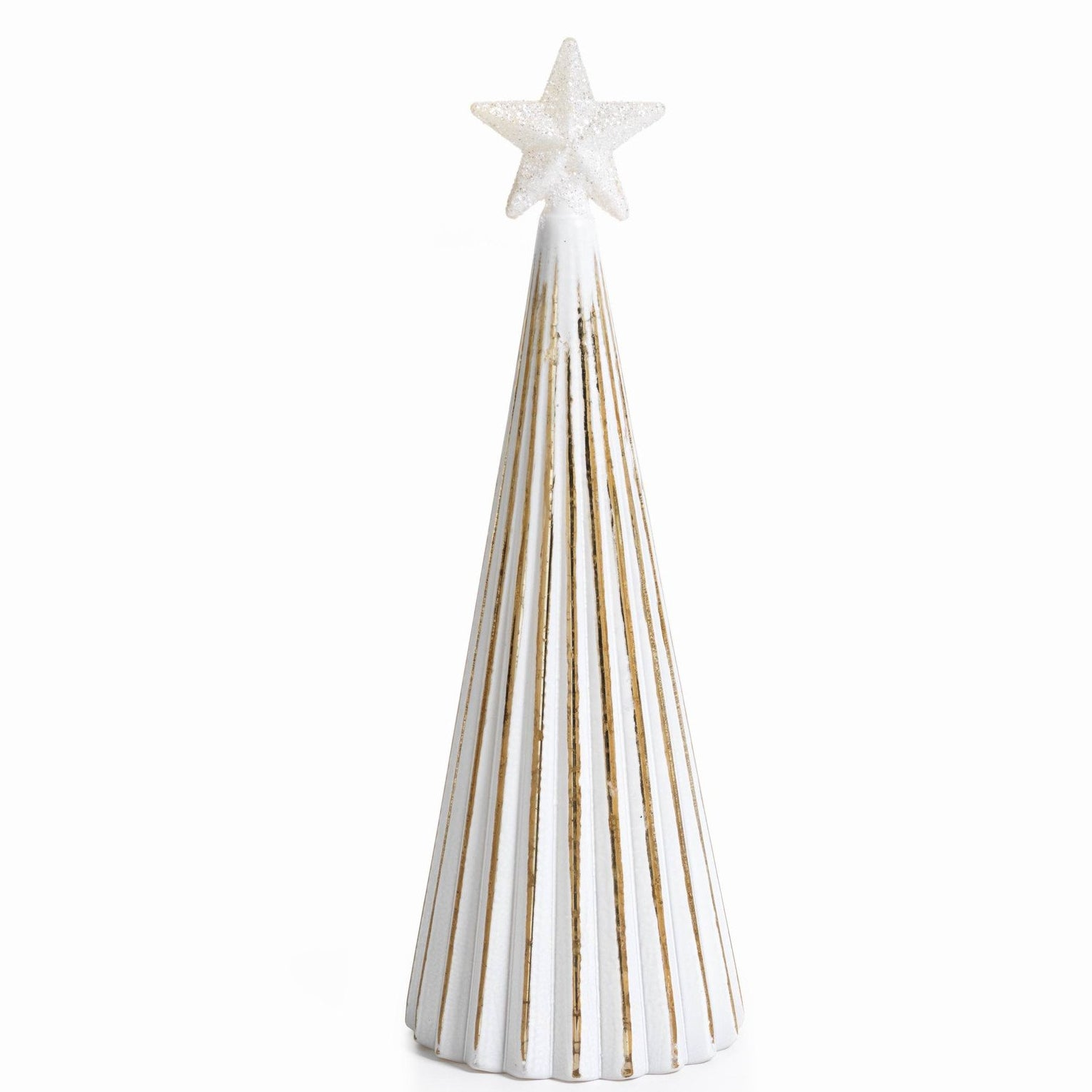 LED Glass Decorative Tree - Gold - Set of 6 - Large / Straight Line - CARLYLE AVENUE - 13