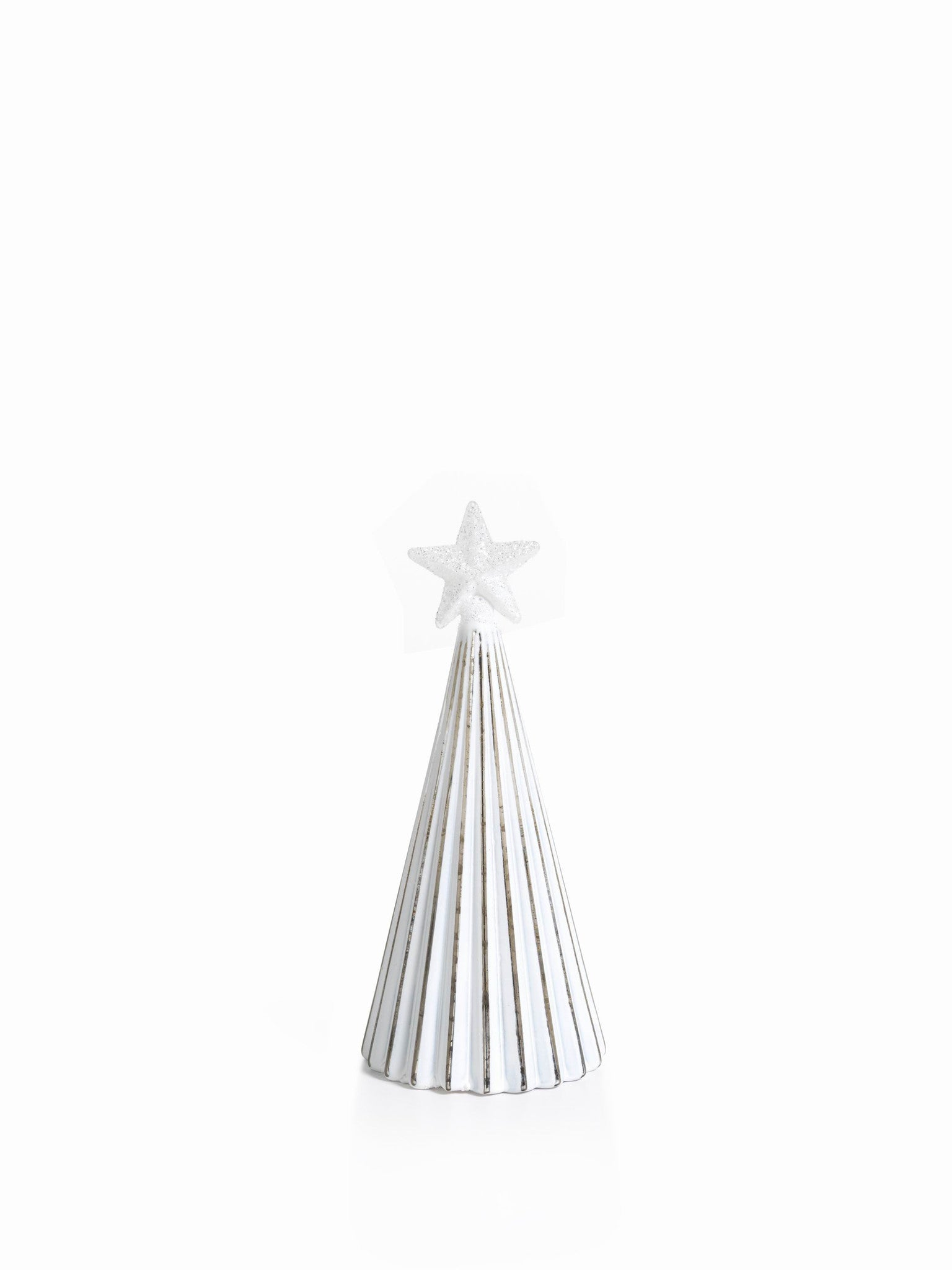 LED Glass Decorative Tree - Silver - Set of 6 - Small / Straight Line - CARLYLE AVENUE - 11