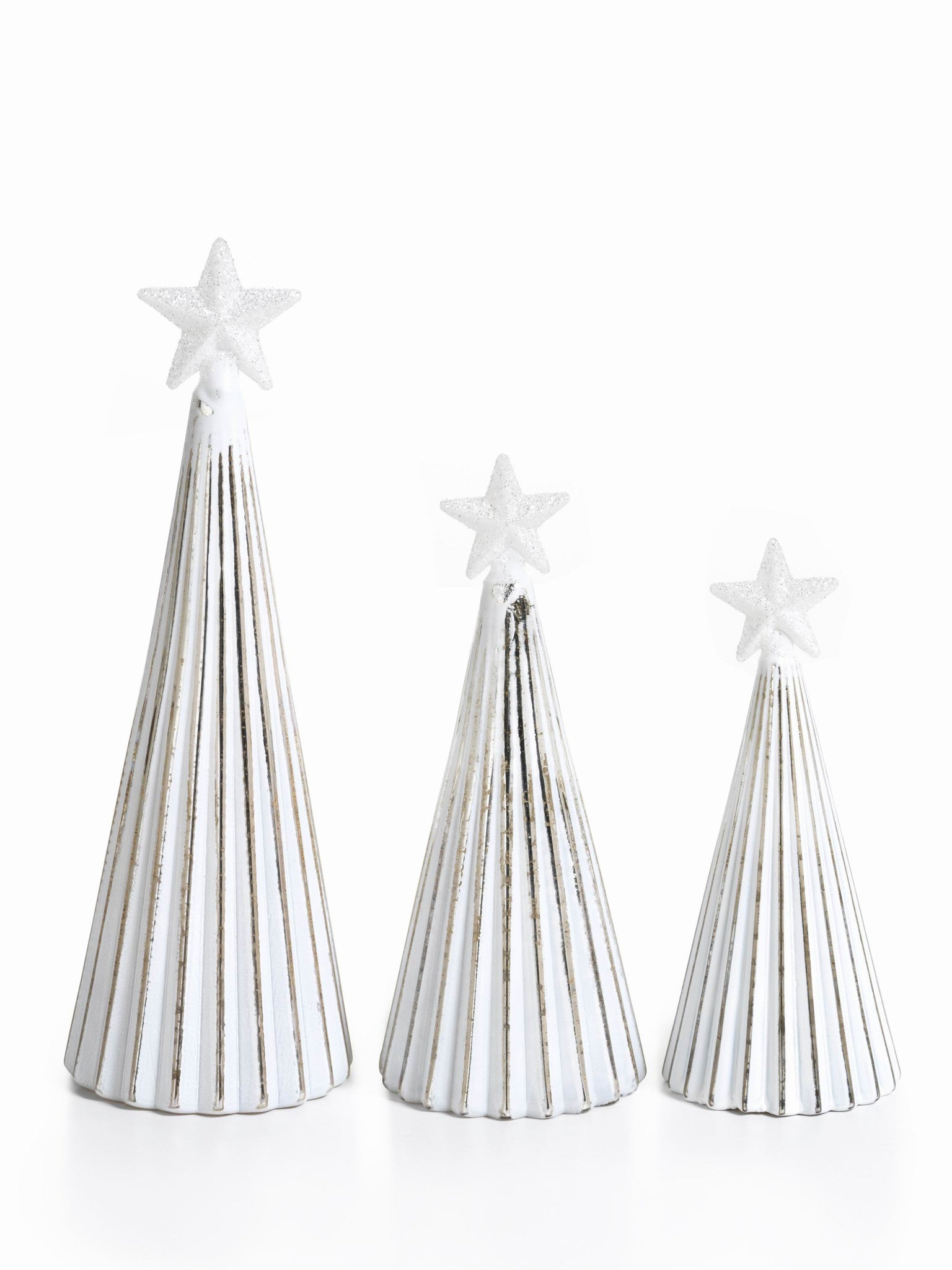 LED Glass Decorative Tree - Silver - Set of 6 -  - CARLYLE AVENUE - 10