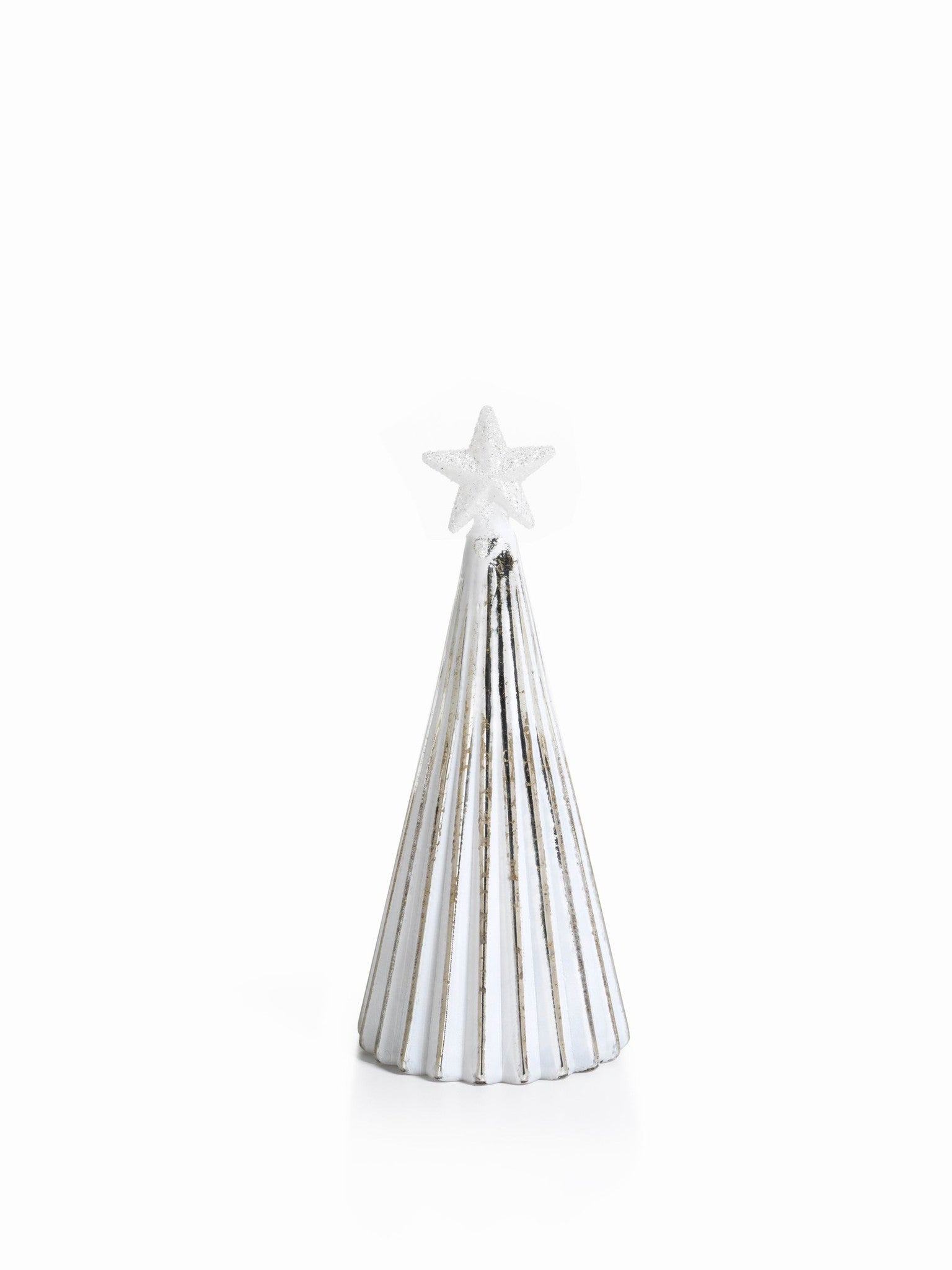 LED Glass Decorative Tree - Silver - Set of 6 - Medium / Straight Line - CARLYLE AVENUE - 12