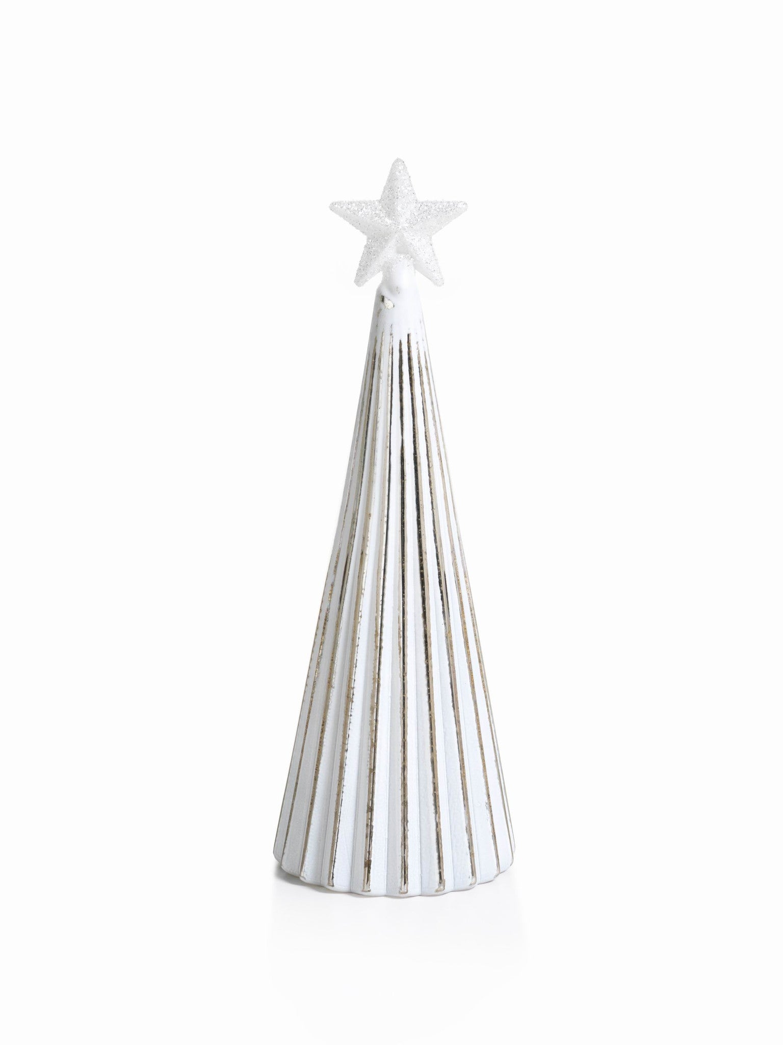 LED Glass Decorative Tree - Silver - Set of 6 - Large / Straight Line - CARLYLE AVENUE - 13