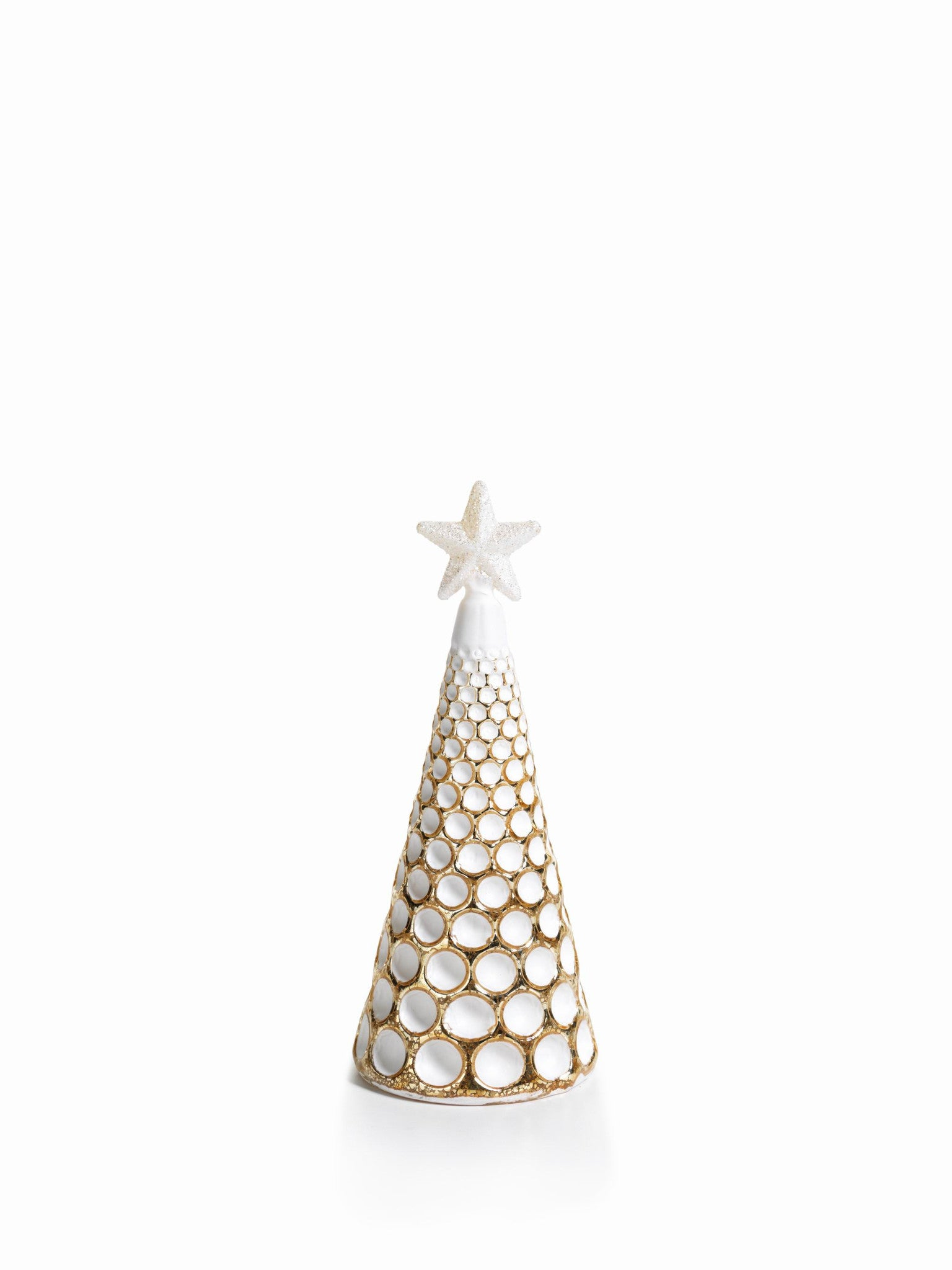 LED Glass Decorative Tree - Gold - Set of 6 - Small / Dimple Cut - CARLYLE AVENUE - 15