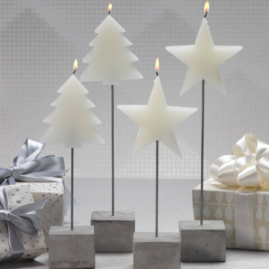 Tree and Star Candle on Stick - Set of 4 -  - CARLYLE AVENUE - 1