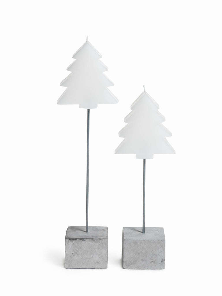 Tree and Star Candle on Stick - Set of 4 - Short / Tree - CARLYLE AVENUE - 3