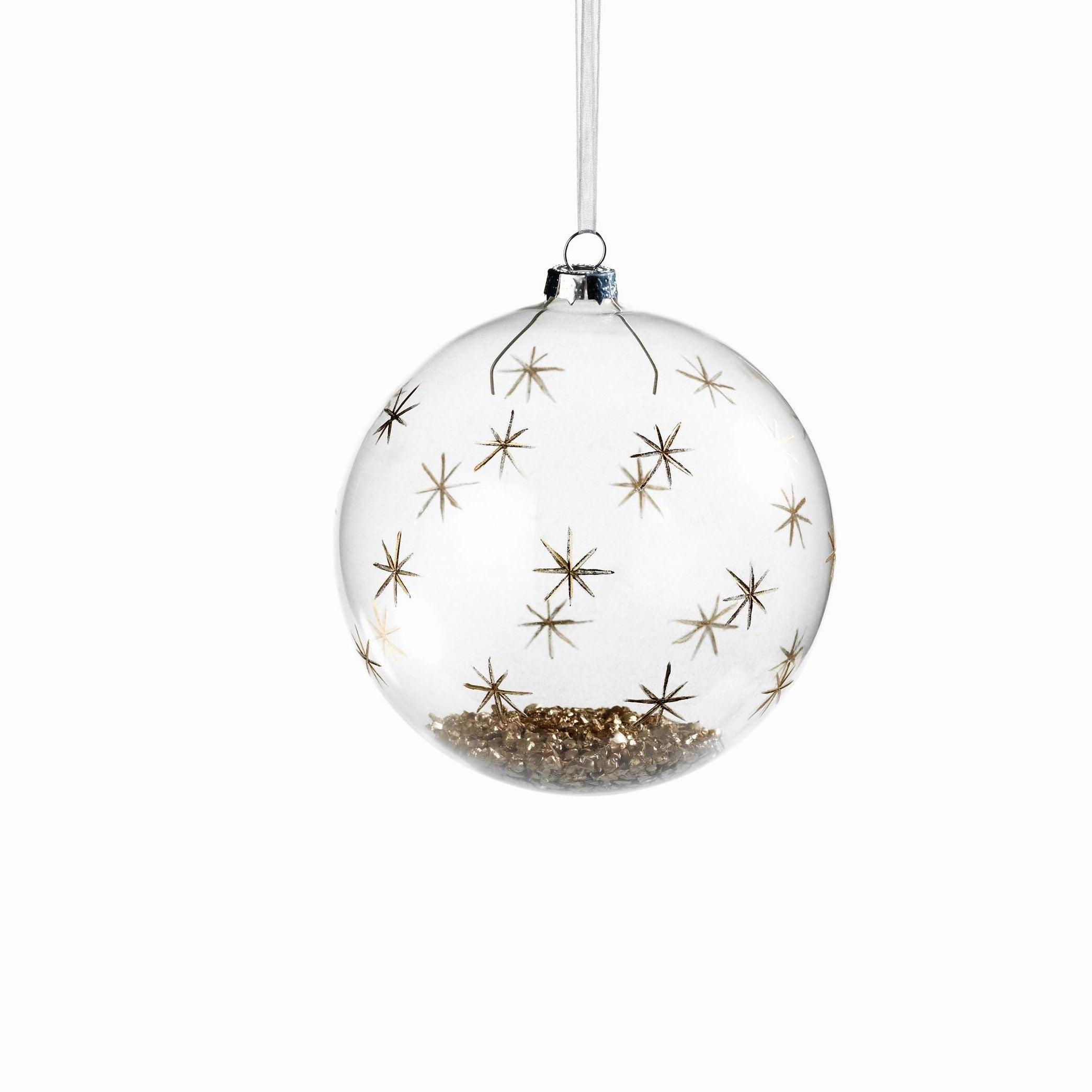 Clear Ball with Gold Confetti and Decor - CARLYLE AVENUE