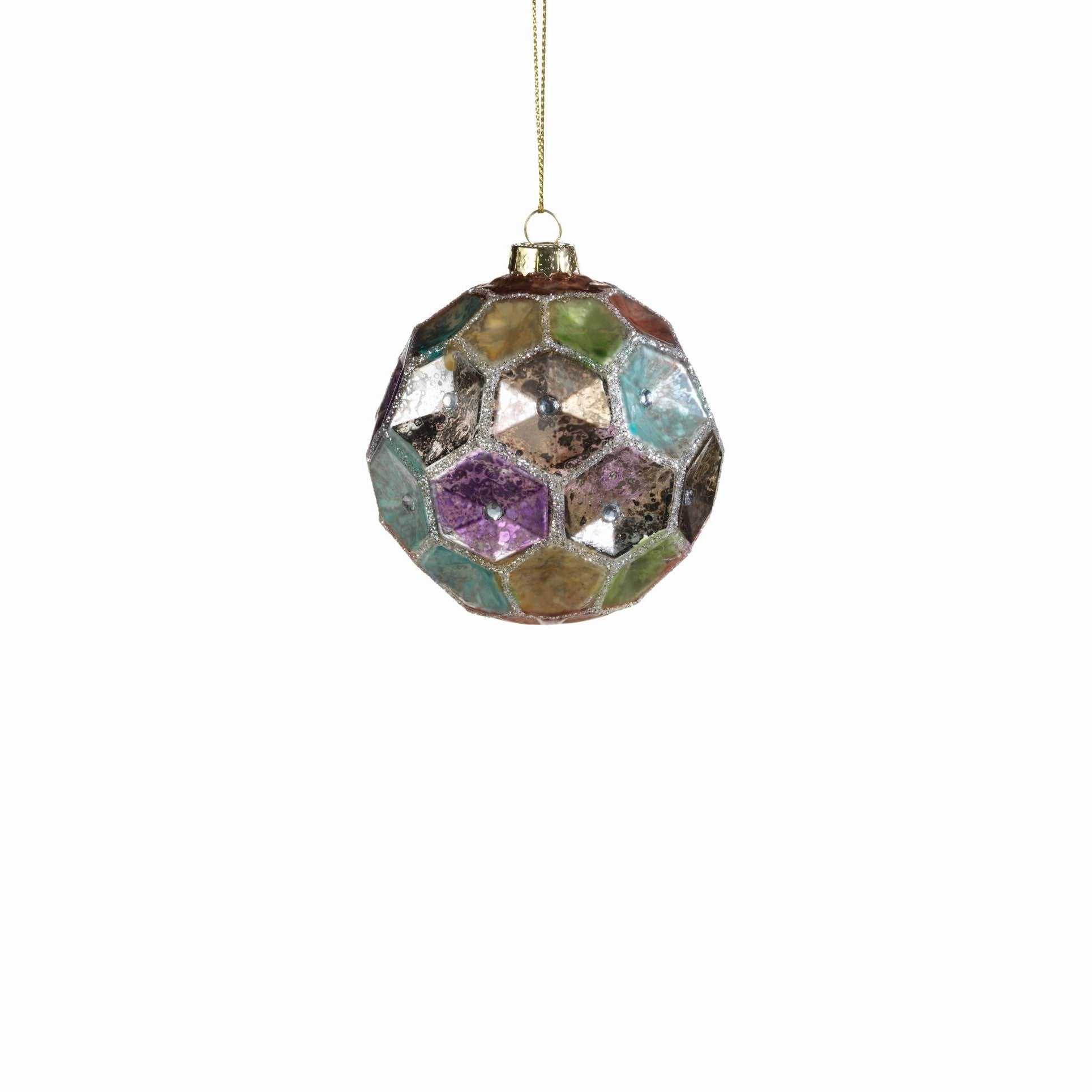 Dimpled Colored Ball Ornament - CARLYLE AVENUE