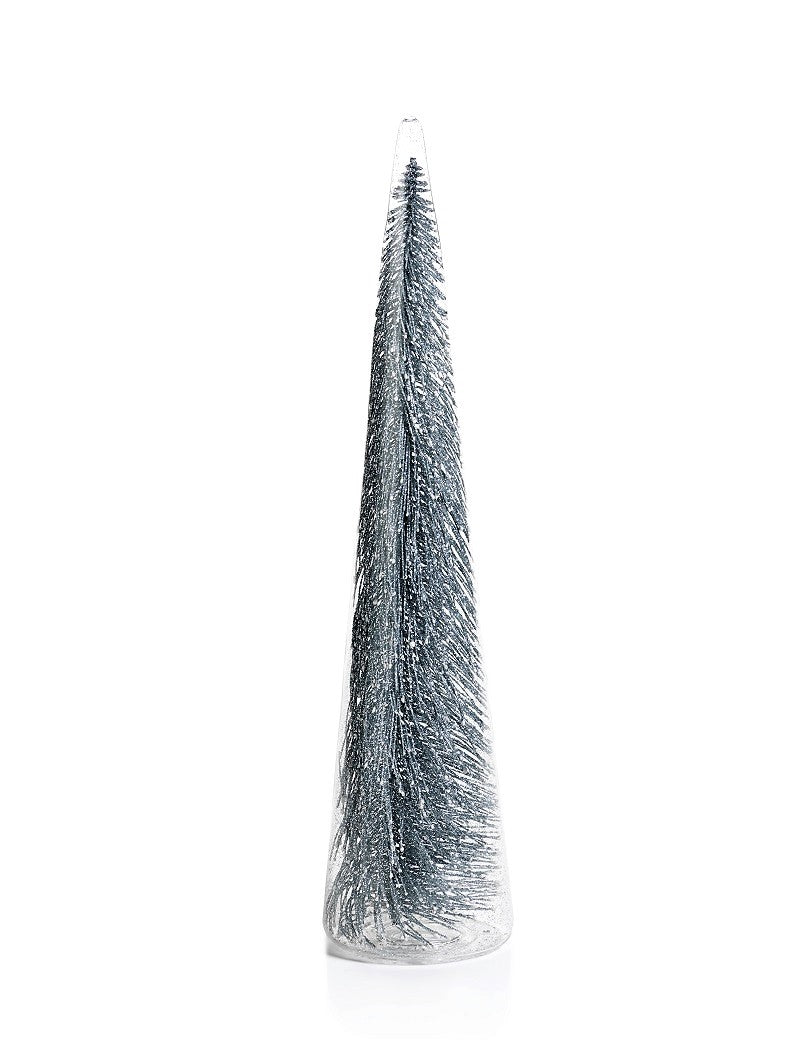 Clear Glass Decorative Tree w/Silver Glitter - CARLYLE AVENUE