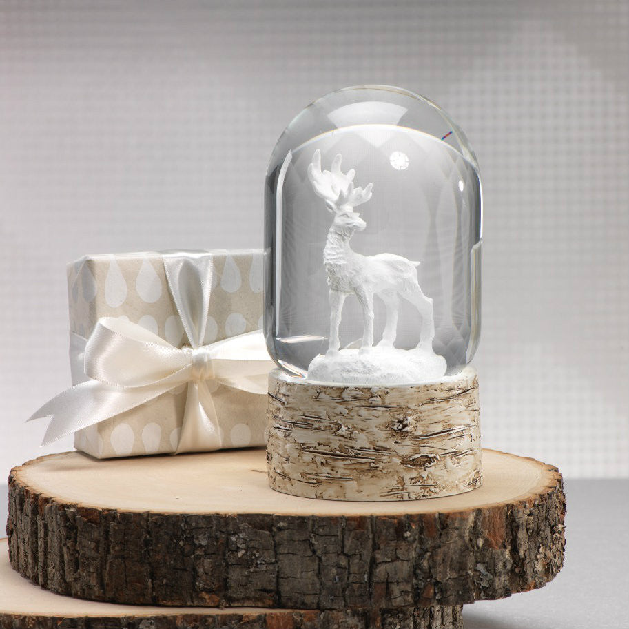 Snow Globe on Birch with White Moose -  - CARLYLE AVENUE - 2