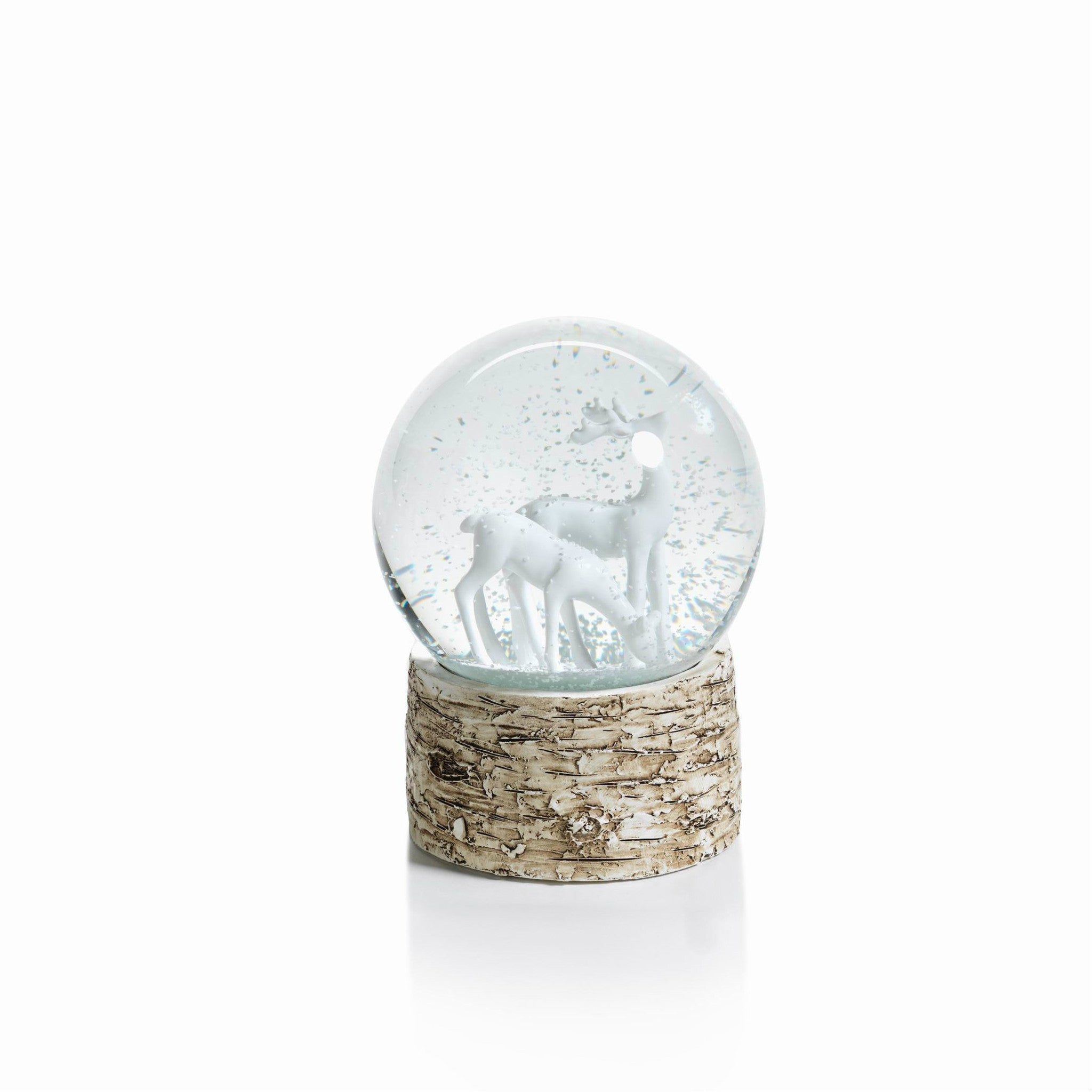 Snow Globe on Birch - White Reindeers - CARLYLE AVENUE - 4