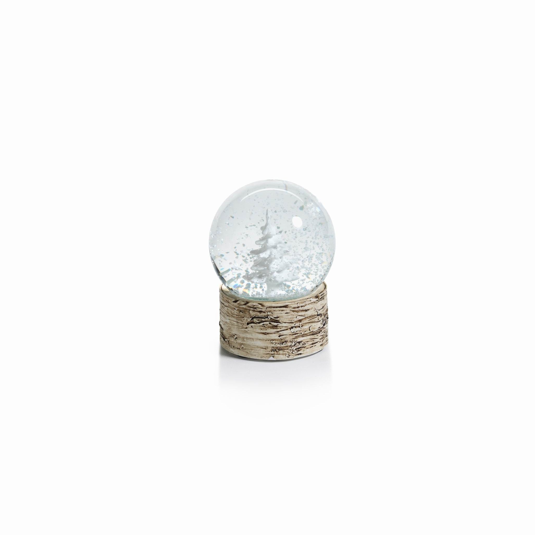 Snow Globe on Birch with Tree