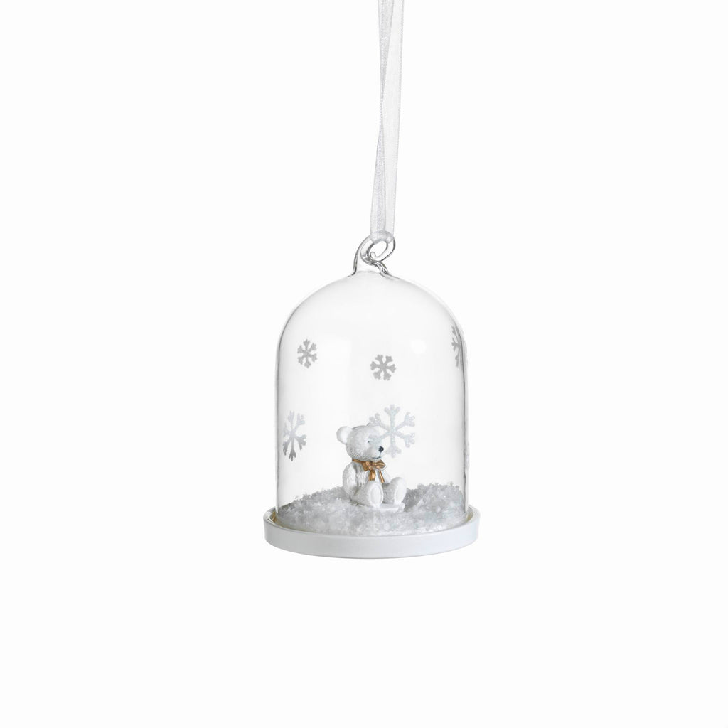 Clear Glass Dome Ornaments - Set of 6 - Teddy Bear - CARLYLE AVENUE - 2