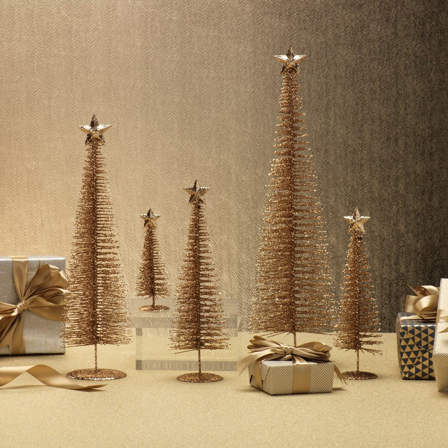 Treasure Mountain Tree - Gold - Set of Four - CARLYLE AVENUE
