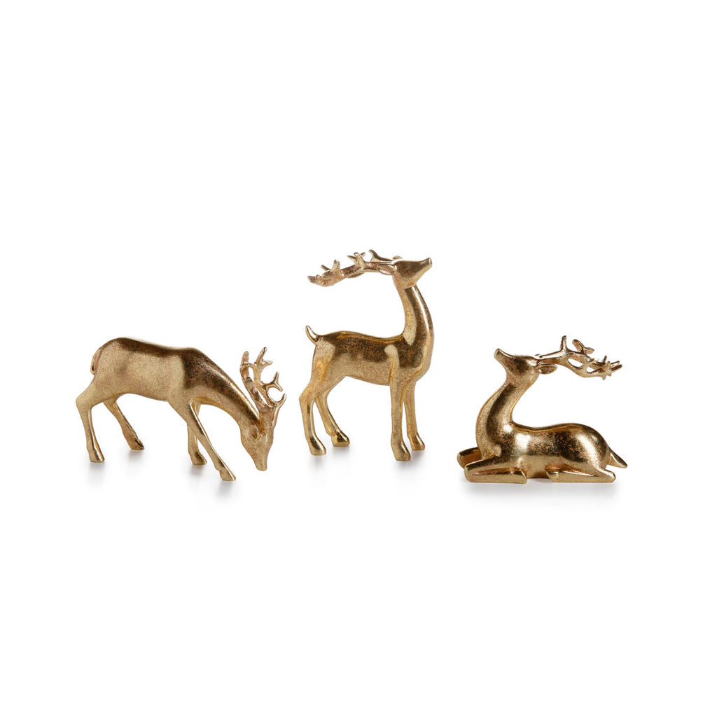 Assorted Decorative Gold Reindeer - Set of 6 - CARLYLE AVENUE