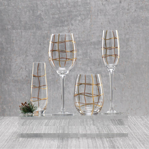 Groove Glasses & Drinkware - Set of 4