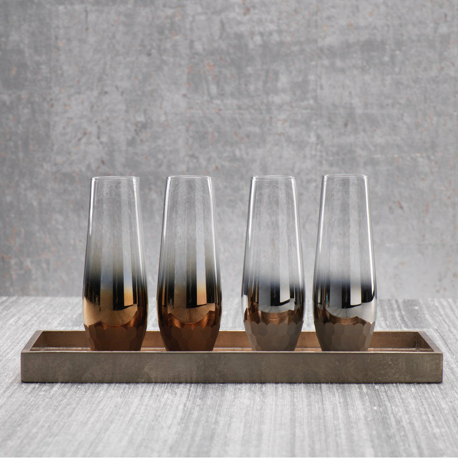 Fez Tonal Stemless Flutes - Set of 4 - CARLYLE AVENUE