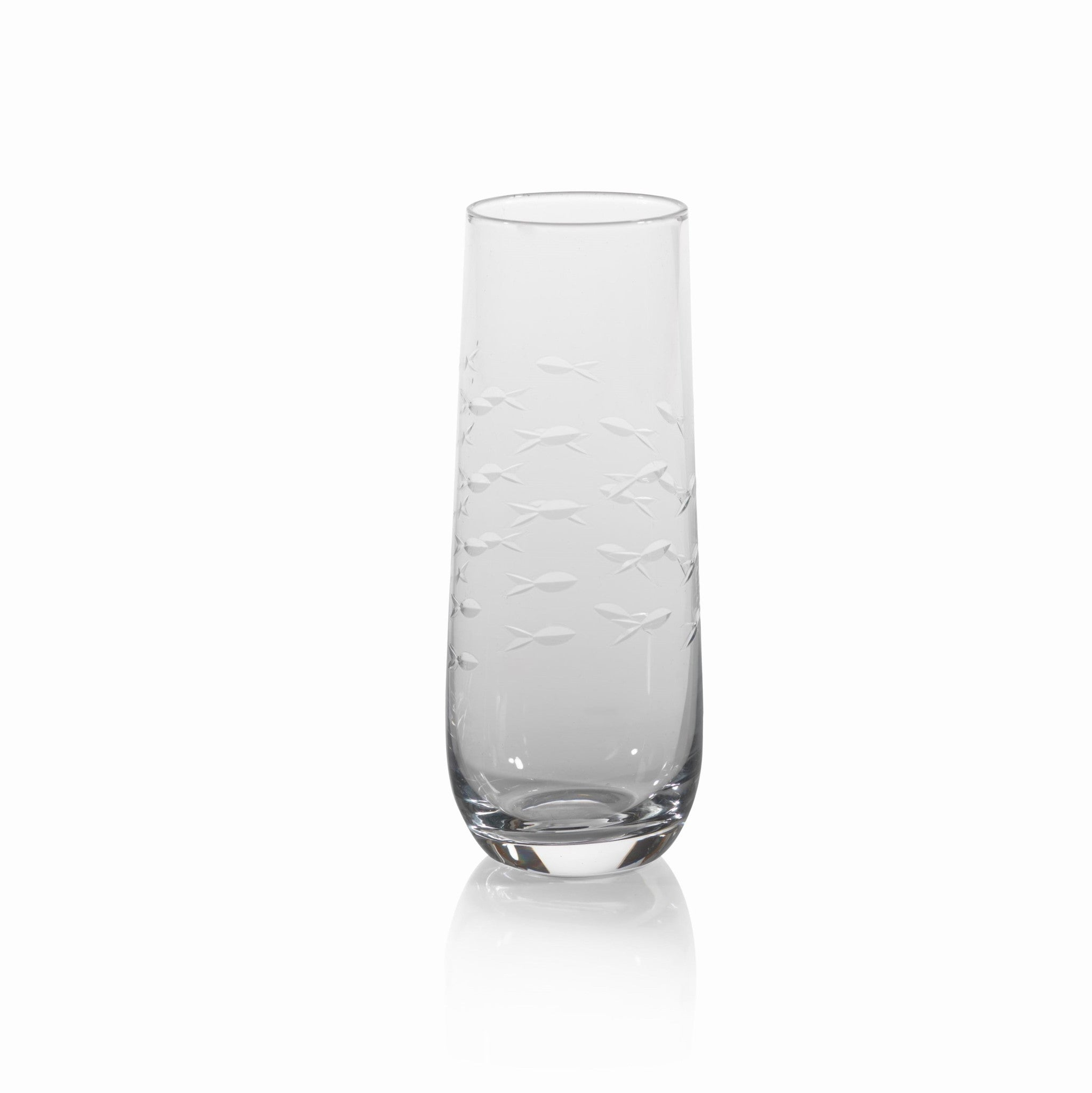 Coral Beach Fish Cut Stemless Glasses - s/4 - CARLYLE AVENUE