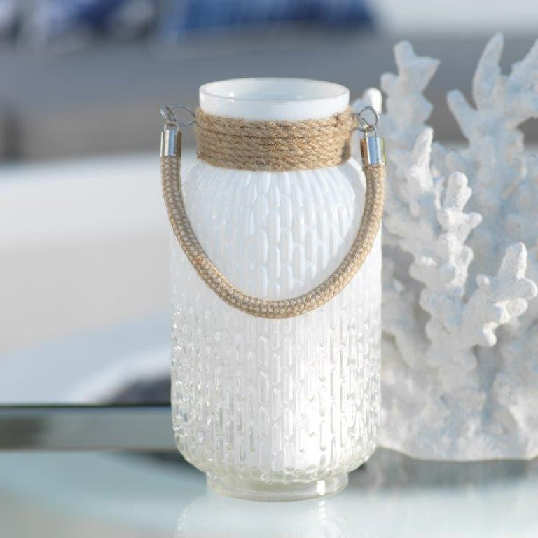 Naples Glass & Rope Lantern