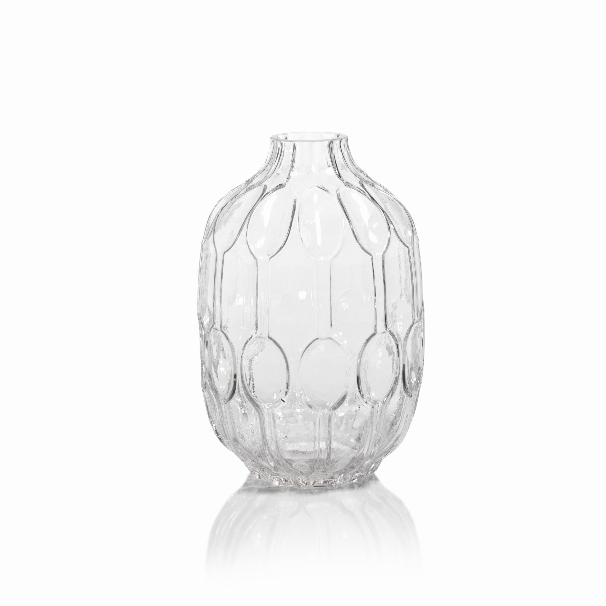 Glass Molded Vases - CARLYLE AVENUE