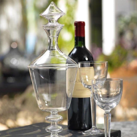 Bordeaux Glass Decanter w/ Stopper