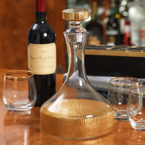 Rodina Decanter w/ Stopper - Gold