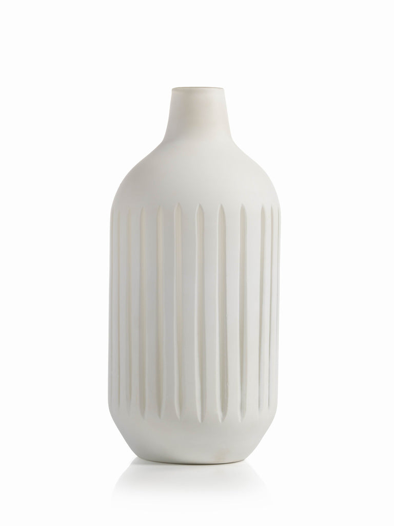 Puerto Galera White Glass Vase