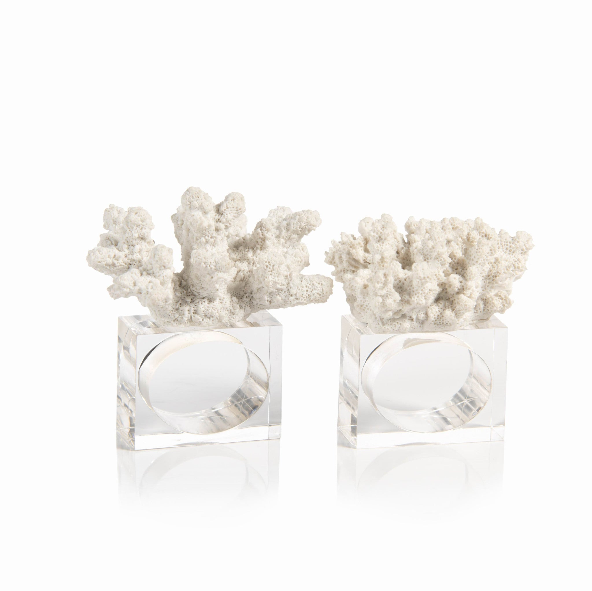 Coral Napkin Rings - Set of 6 - CARLYLE AVENUE