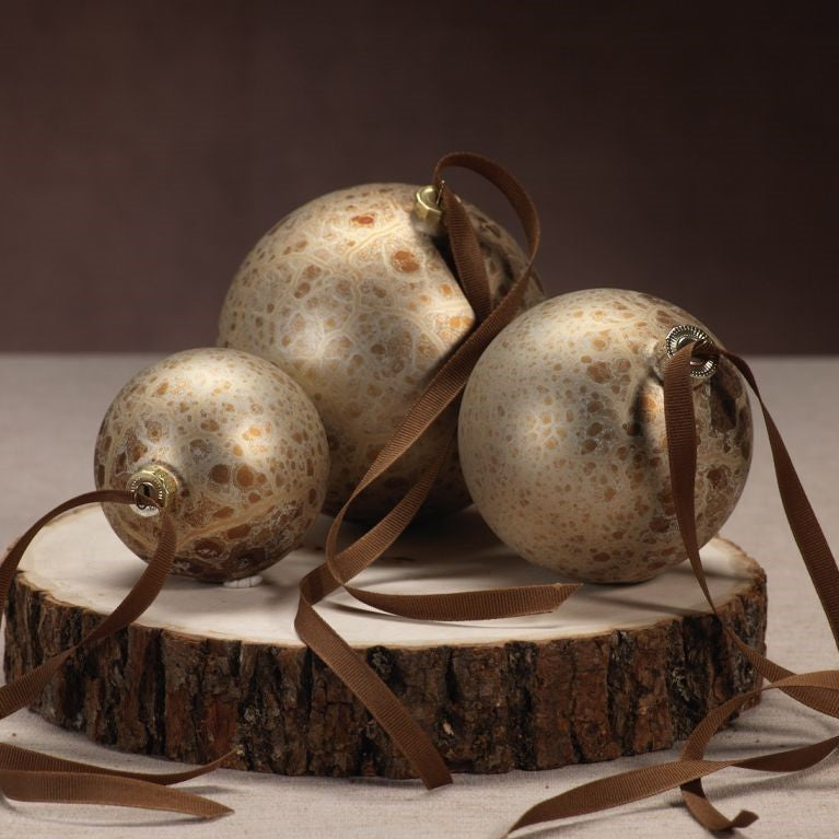 Antique Gold Ball Ornament - CARLYLE AVENUE