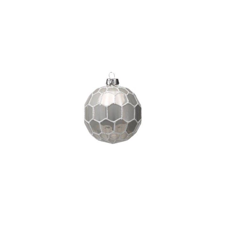 White and Gray Ball Ornament