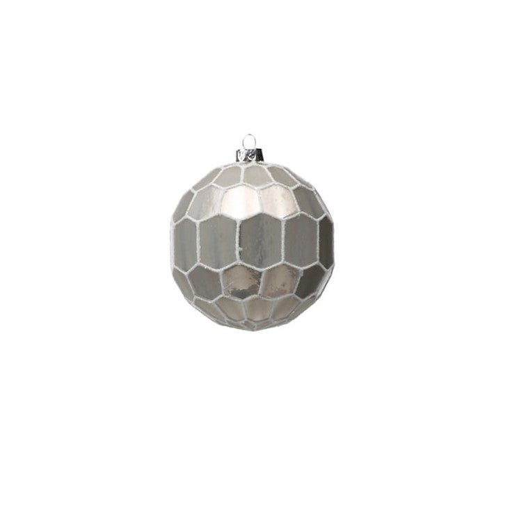 White and Gray Ball Ornament - CARLYLE AVENUE