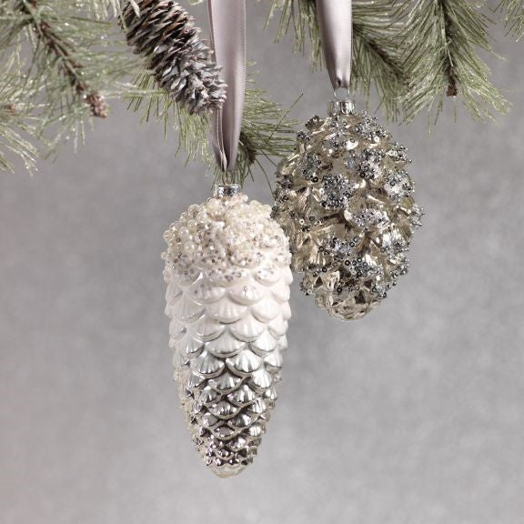 Pine Cone Ornaments - Set of 6 - CARLYLE AVENUE