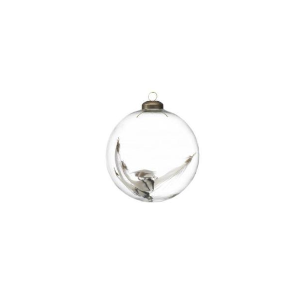 Clear Ball w/ Feather - Set of 6 - CARLYLE AVENUE